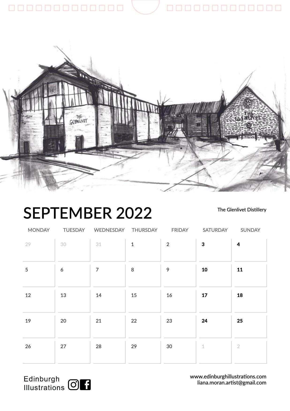 Distilleries of Scotland 2022 Calendar