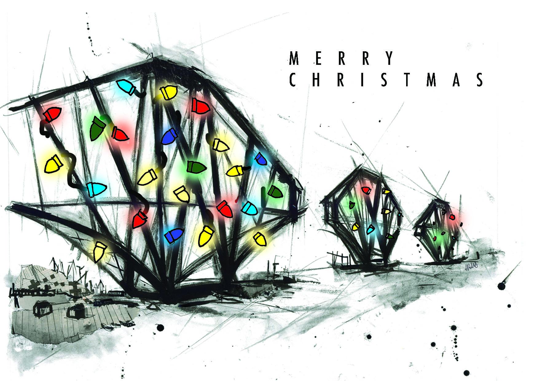 Forth Rail Bridge Christmas Card