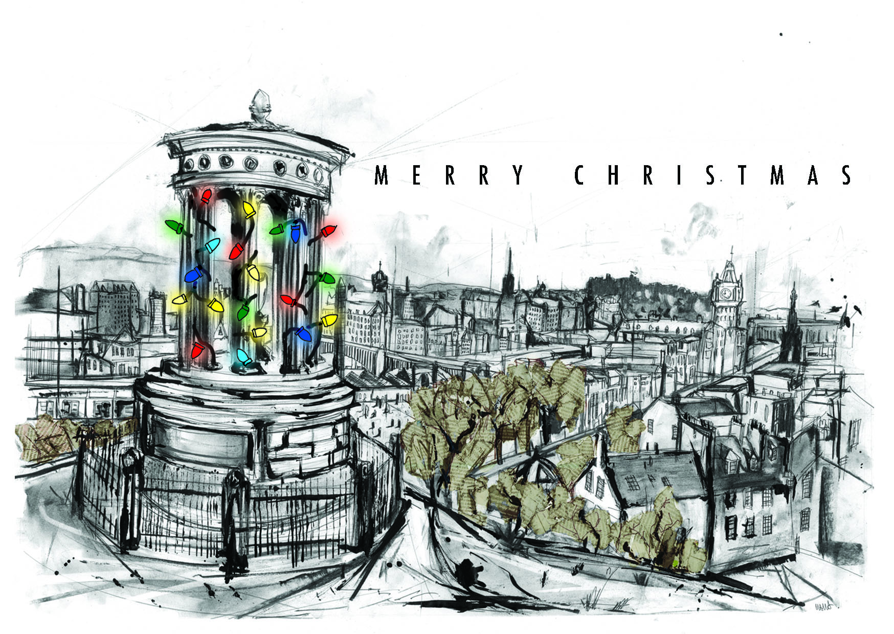 Calton Hill Christmas Card