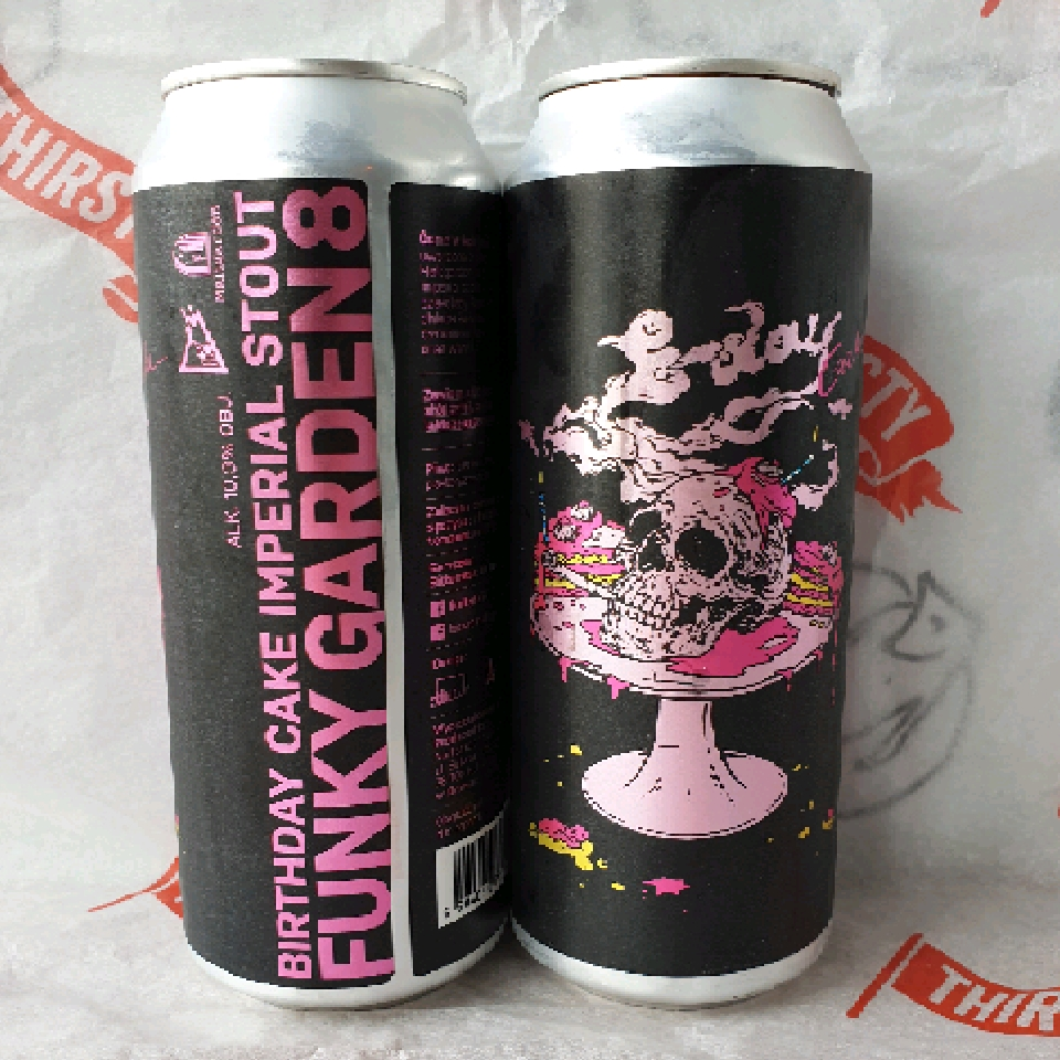 Maltgarden  x Funky Fluid | Funky Garden Vol.8 | Pastry Imperial Stout 10% 500ml