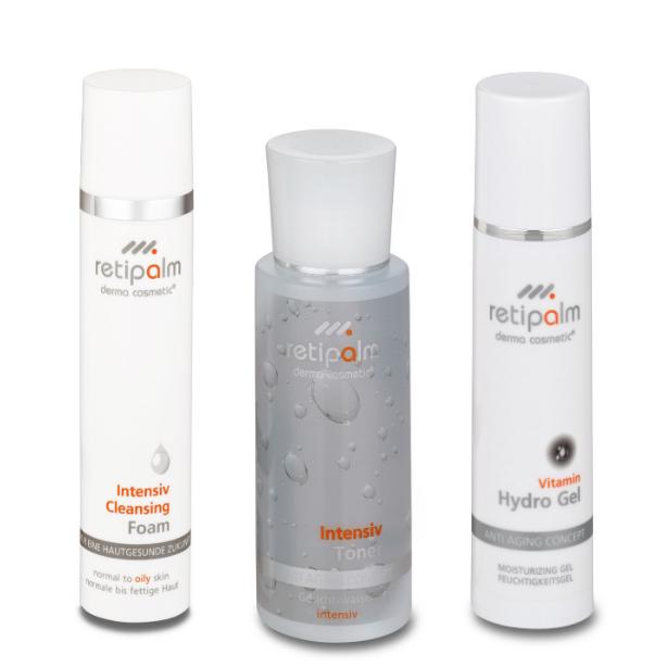 Retipalm-aloituspakkaus rasvoittuvalle iholle