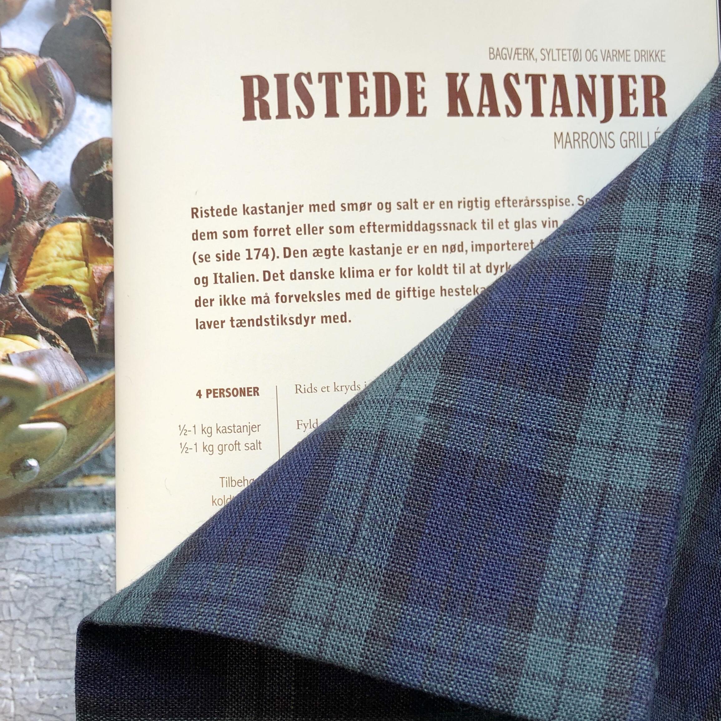 Fog Linen Work / Viskestykke (Green and Navy Tartan Check)
