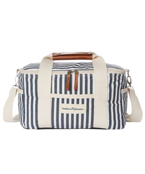 Premium Cooler Bag Navy Stripe
