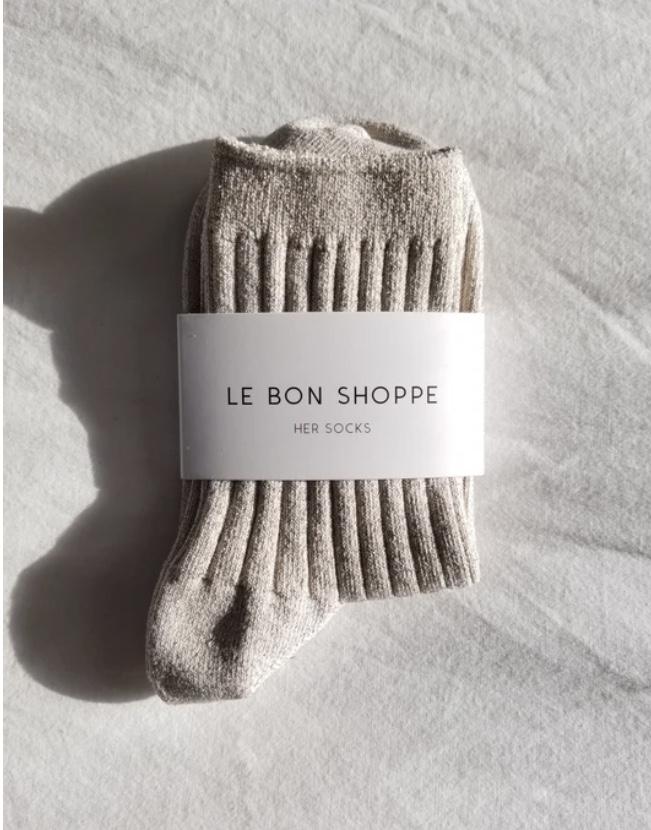 Le Bon Shoppe / Her Socks (Glittery Pearl)