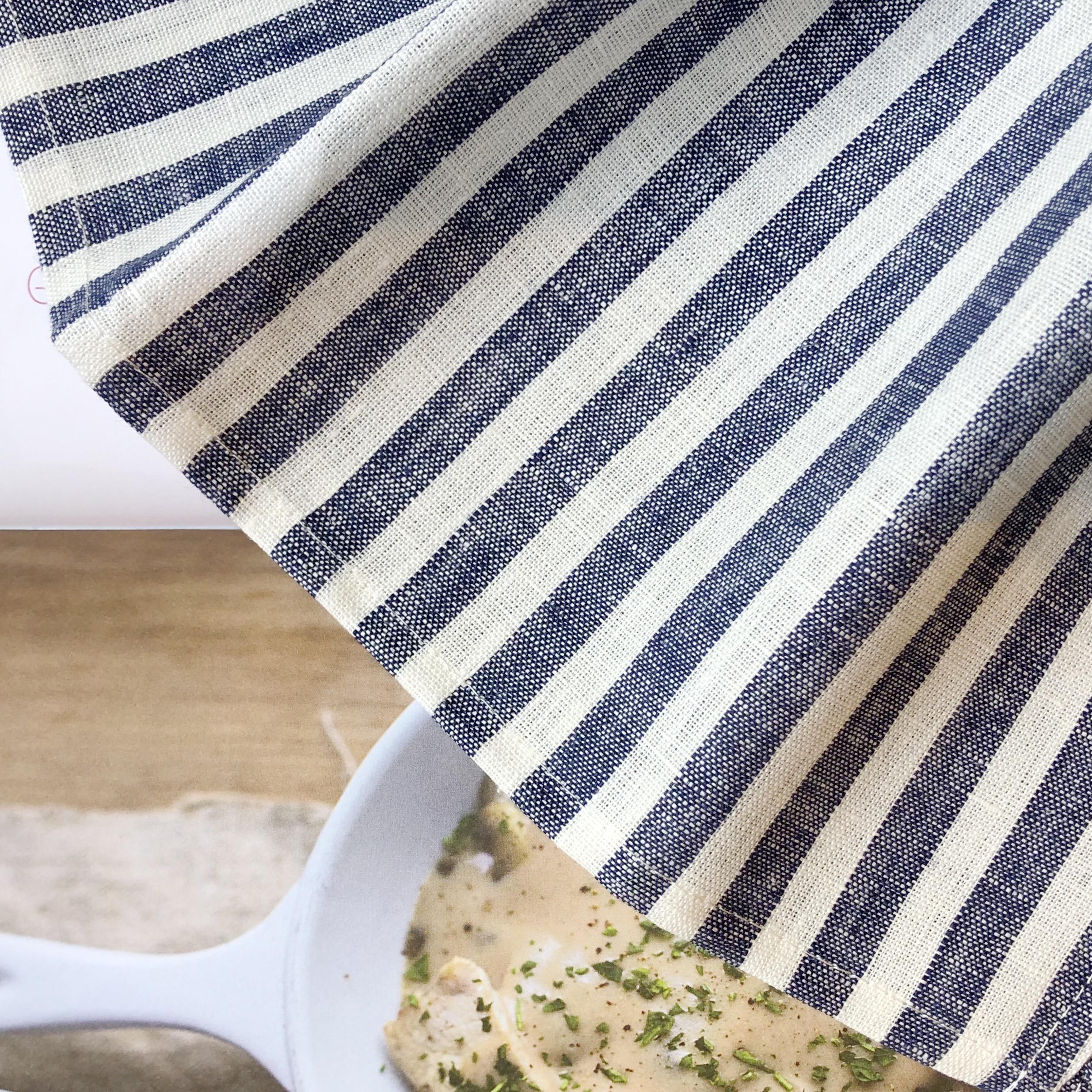 Fog Linen Work / Viskestykke (Blue White Stripe)
