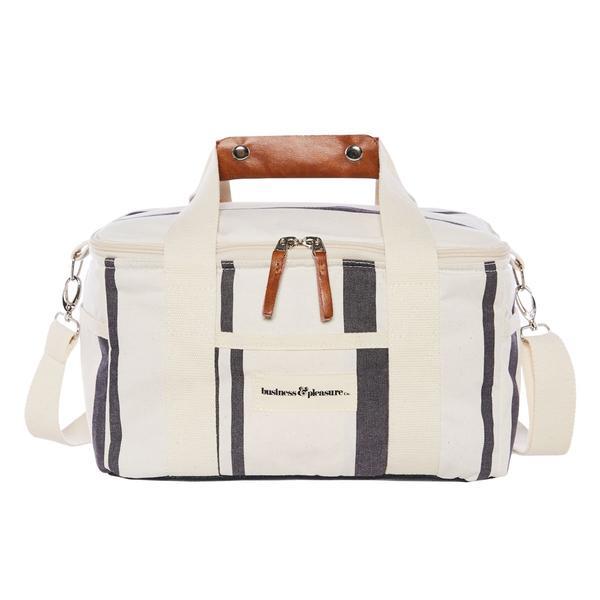 Premium Cooler Bag Vintage Black Stripe