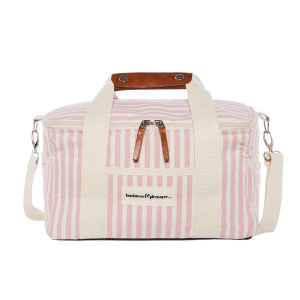 Premium Cooler Bag Pink Stripe