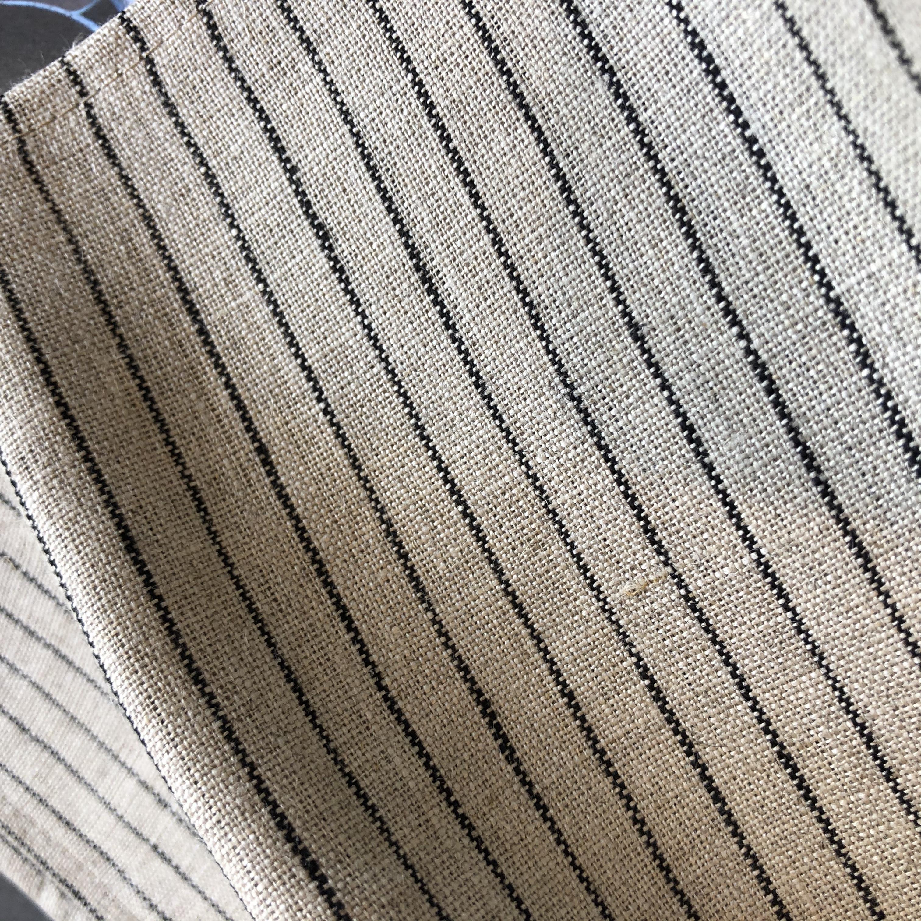 Fog Linen Work / Viskestykke (Natural with Black Stripe)