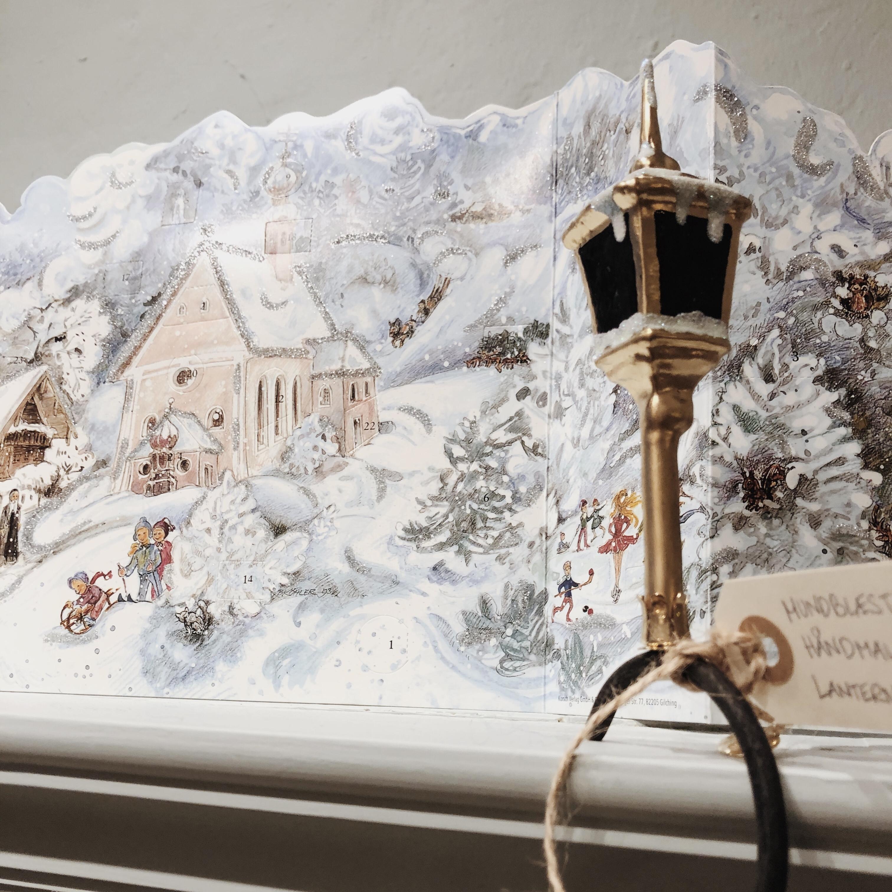 Lanterne glasornament clip-on