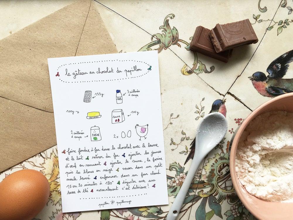 Papillonnage / Gâteau au chocolat