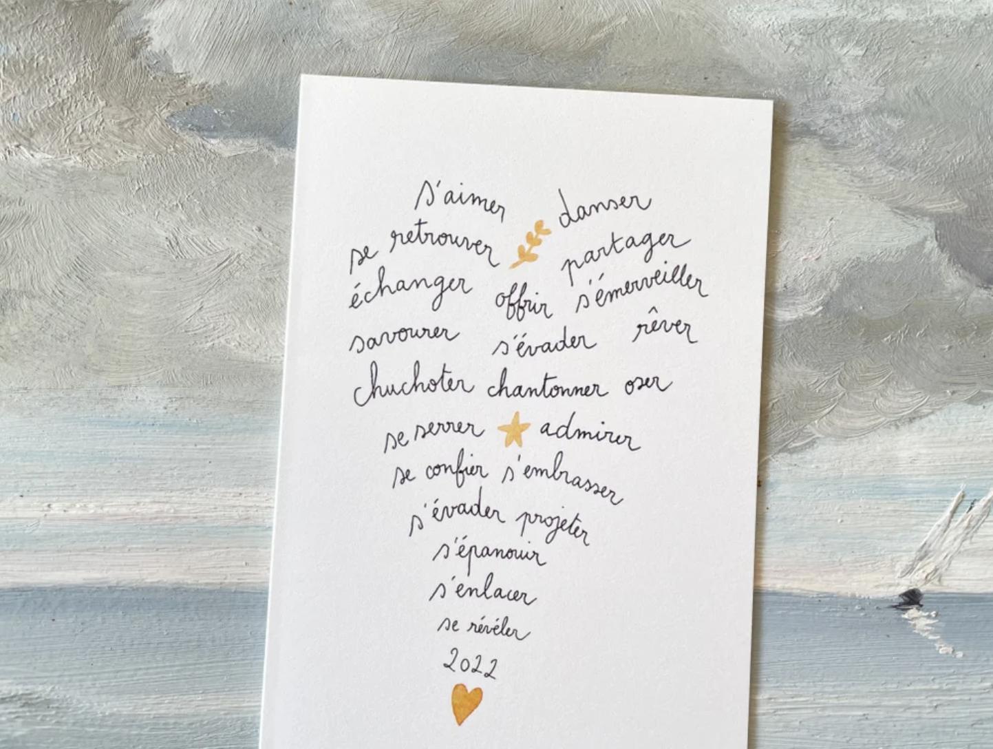 Papillonnage / Voeux coeur