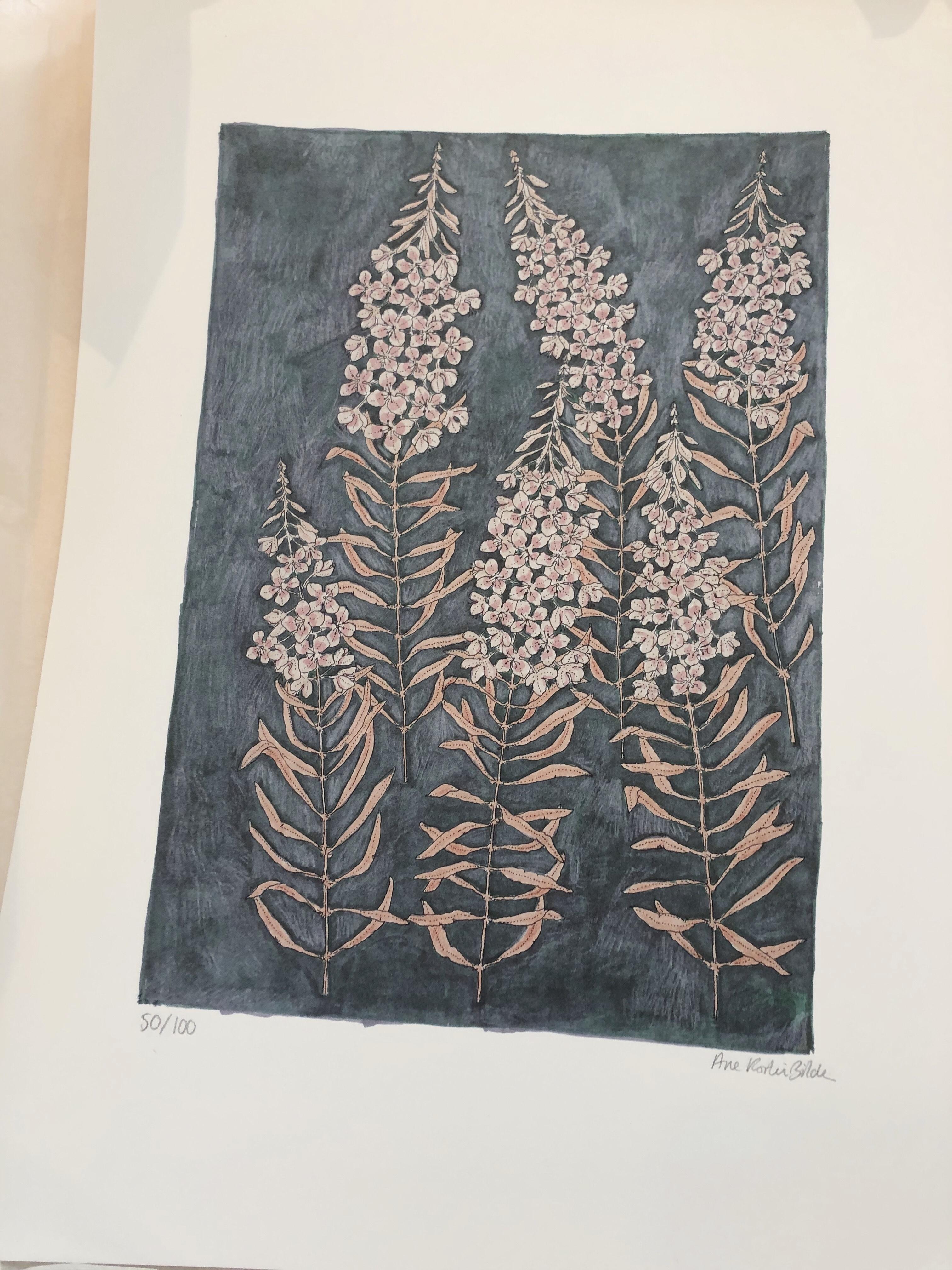 Ane Kirstine Bilde / Fireweed Artprint