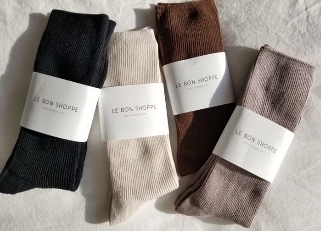 Le Bon Shoppe / Trouser Socks (Black)