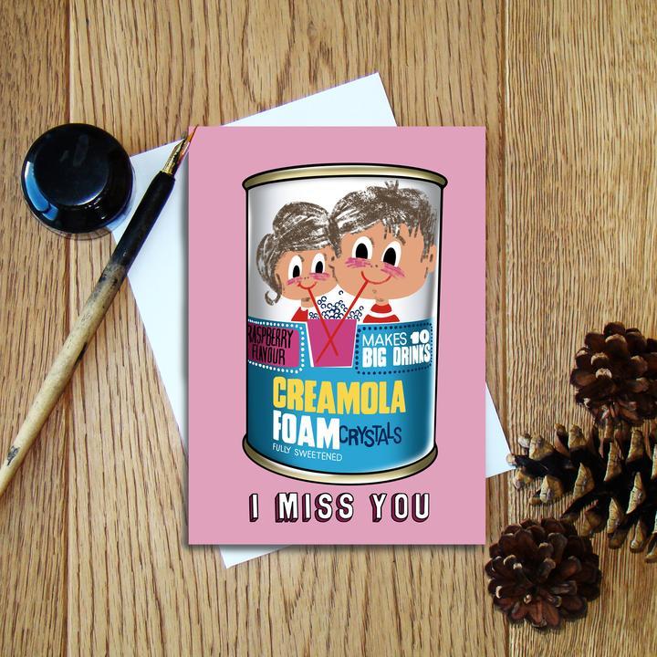 Cheryl Jones Designs I Miss You (Creamola Foam) Greeting Card