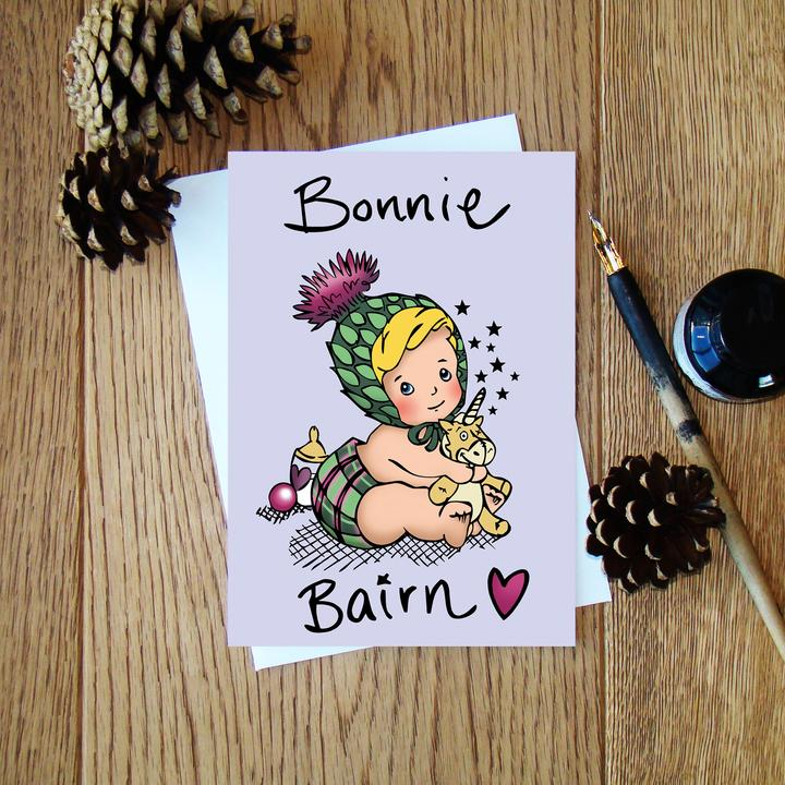 Cheryl Jones Designs Bonnie Bairn Greeting Card