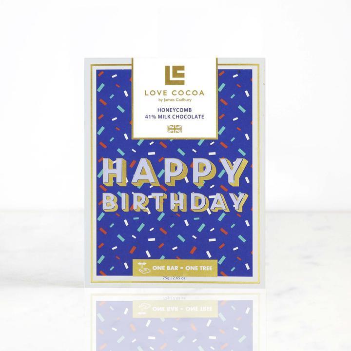 Love Cocoa - Happy Birthday - Honeycomb Milk Chocolate