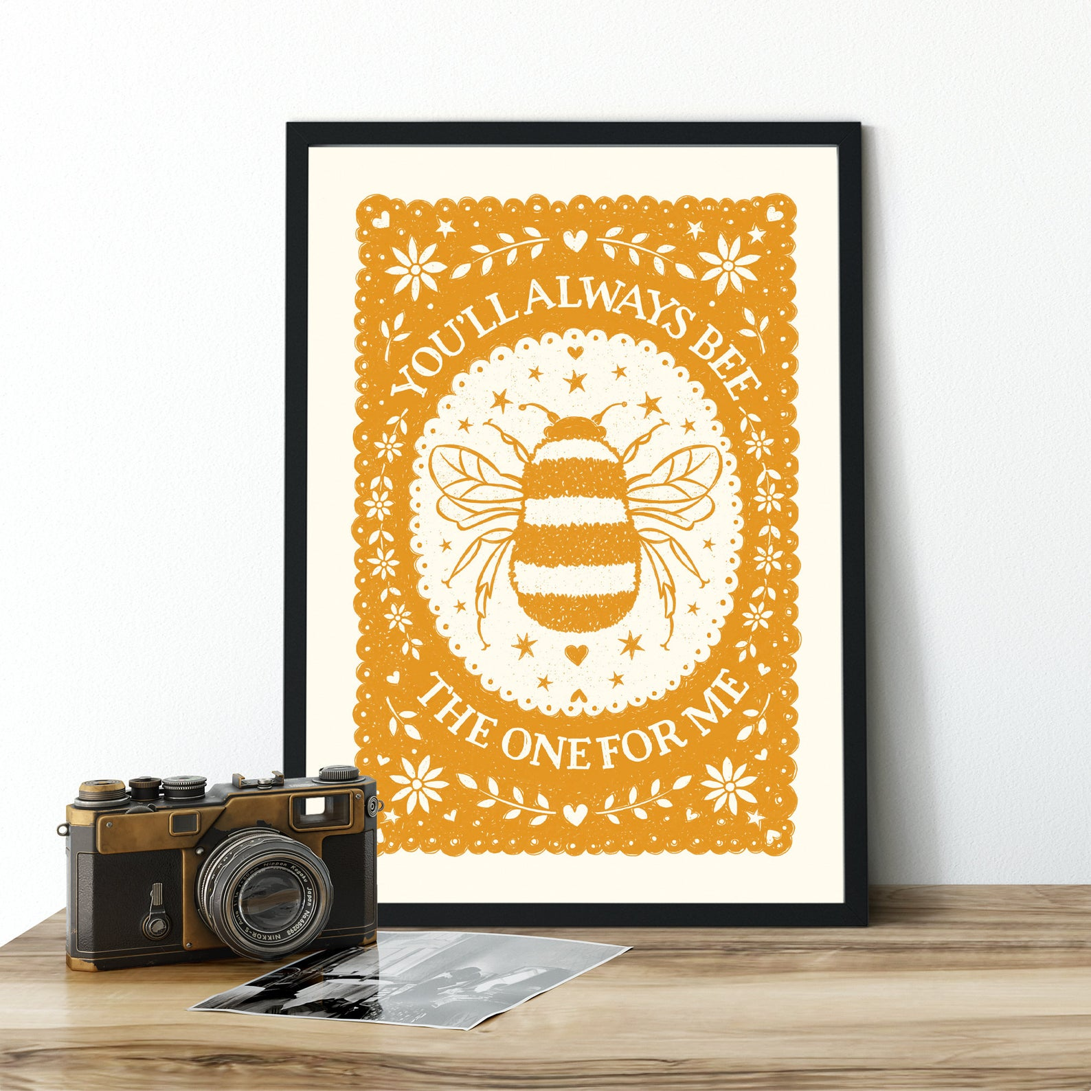 Alexandra Snowdon A3 Bee The One For Me Print