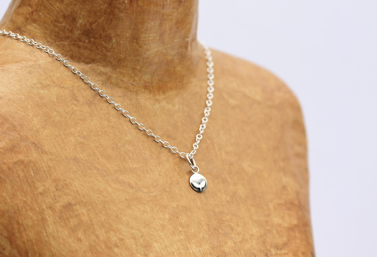 Silver Tiny Rowan Necklace