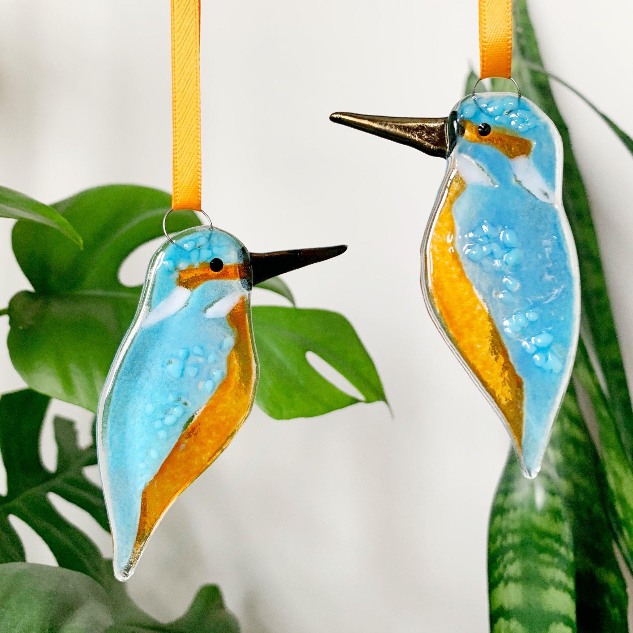 Glass Kingfisher Decoration
