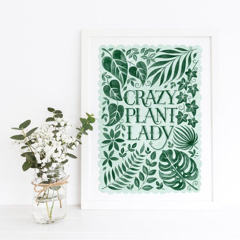 Alexandra Snowdon A3 Crazy Plant Lady Print