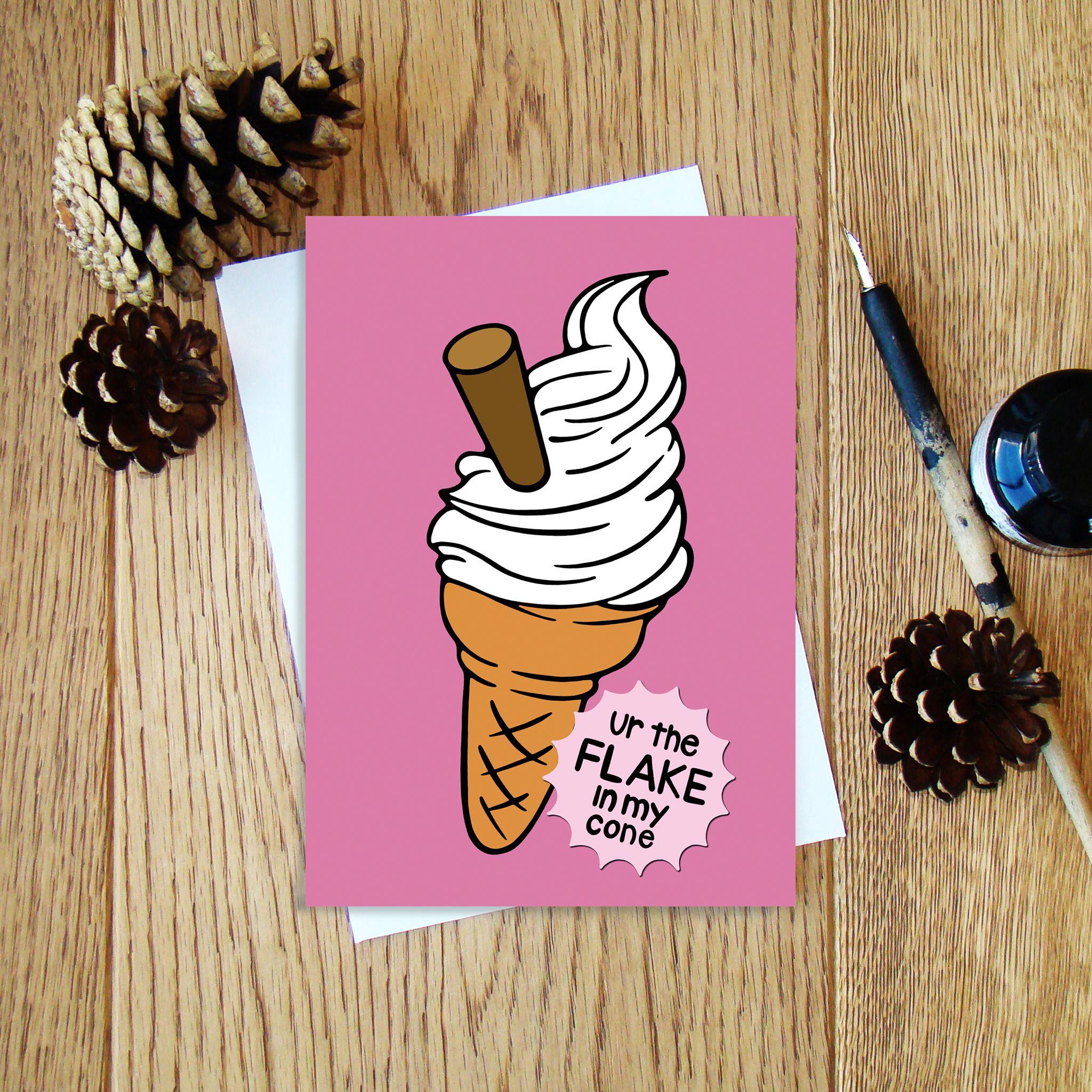 Cheryl Jones Designs 99 Ice Cream Greeting Card