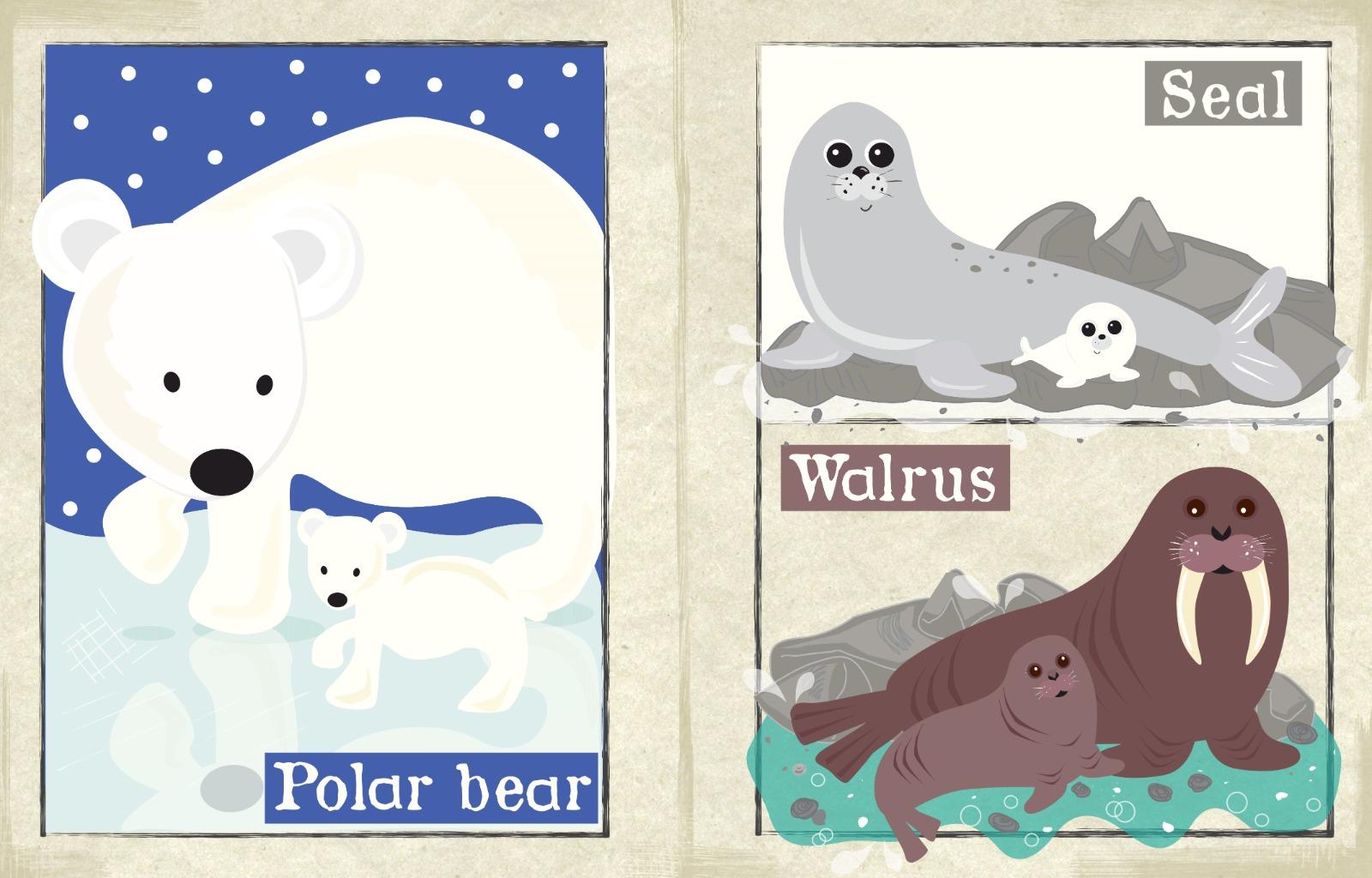 Nursery Times Crinkly Newspaper - Arctic, Big & Small