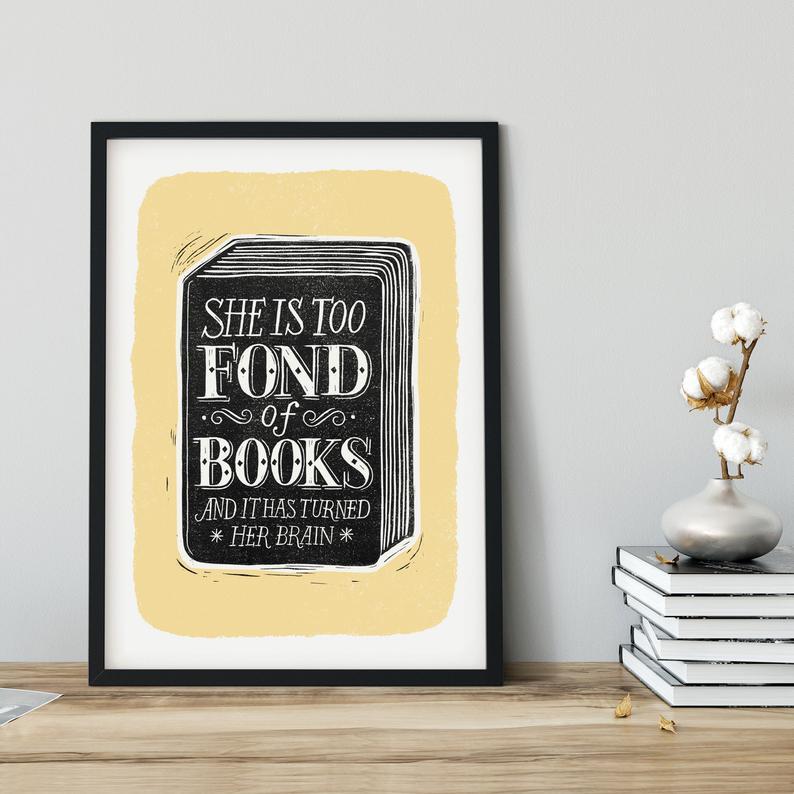 Alexandra Snowdon A3 Fond of Books Print
