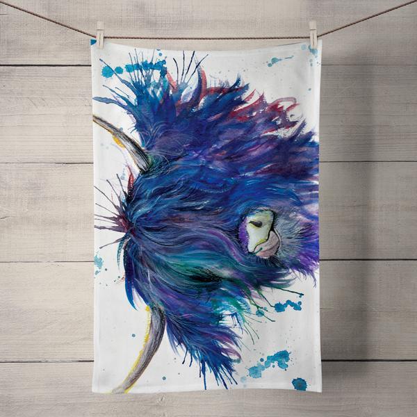 Wraptious Tea Towel - Splatter Highland Cow
