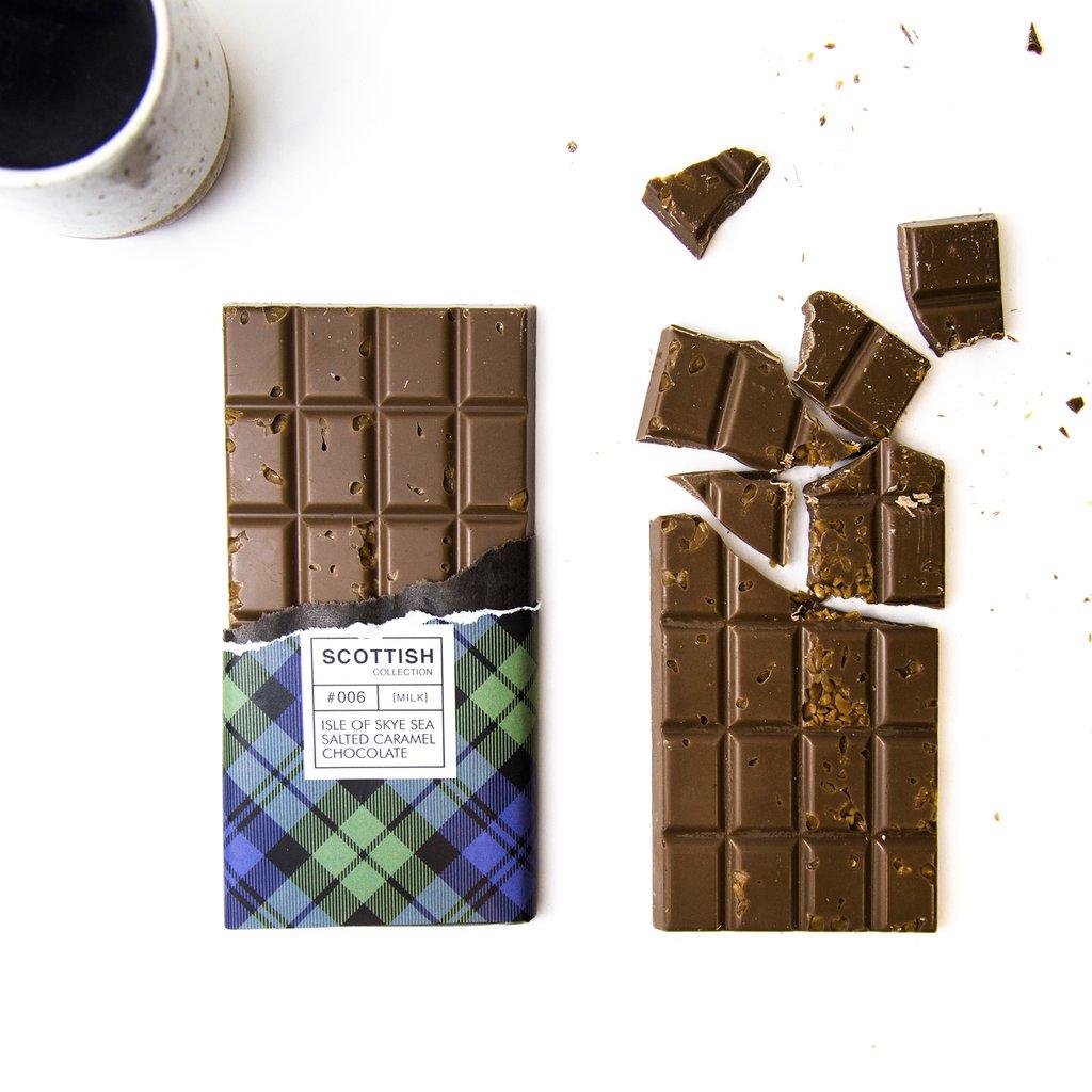 Quirky Chocolate Isle Of Skye Sea Salted Caramel Bar, 100G (PF)
