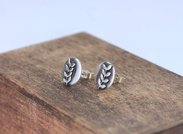 Silver Rowan Earrings