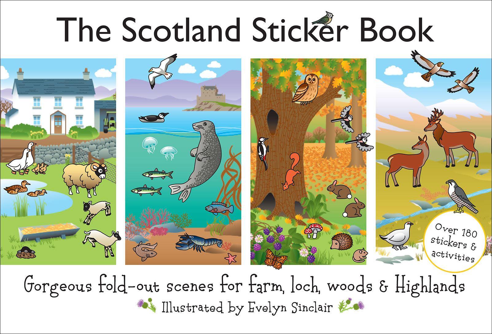 Scotland Sticker Book