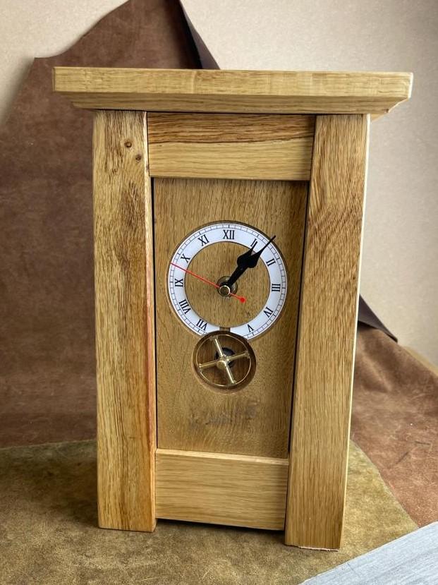 Woodland Homestyle Oak Rotar Clock