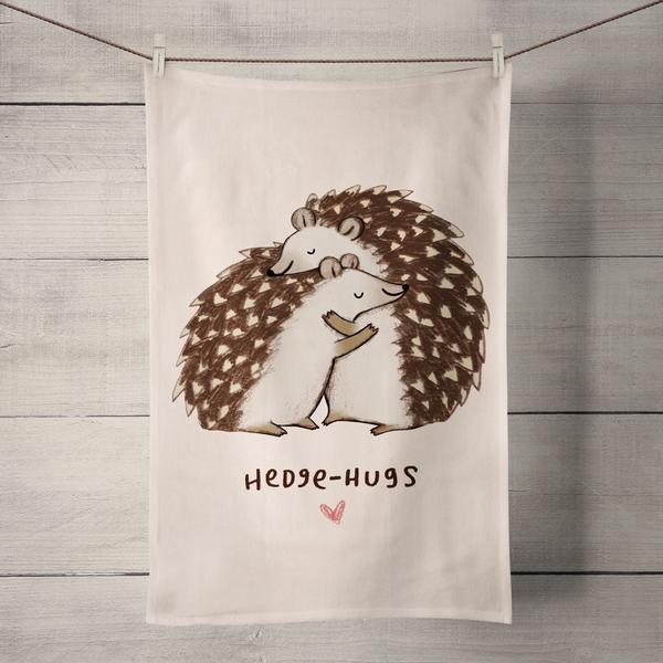 Wraptious Tea Towel - Hedgehugs