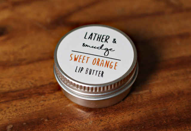 Lather and Smudge Lip Balm