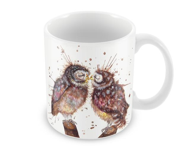 Wraptious Ceramic Mug - Splatter Loved Up Owls
