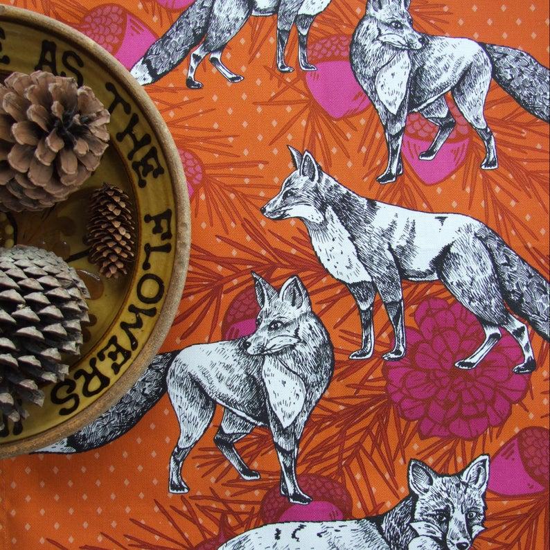Tammie Norries A Charm of Foxes Tea Towel