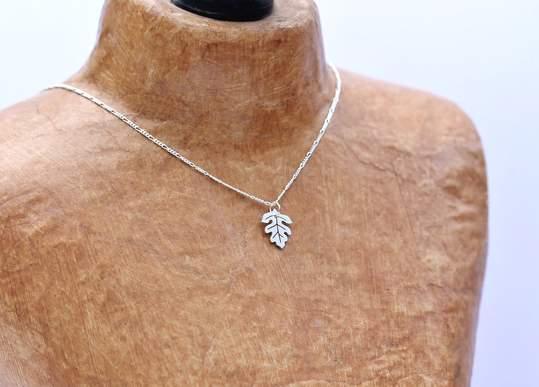 Tiny Hawthorn Leaf Necklace