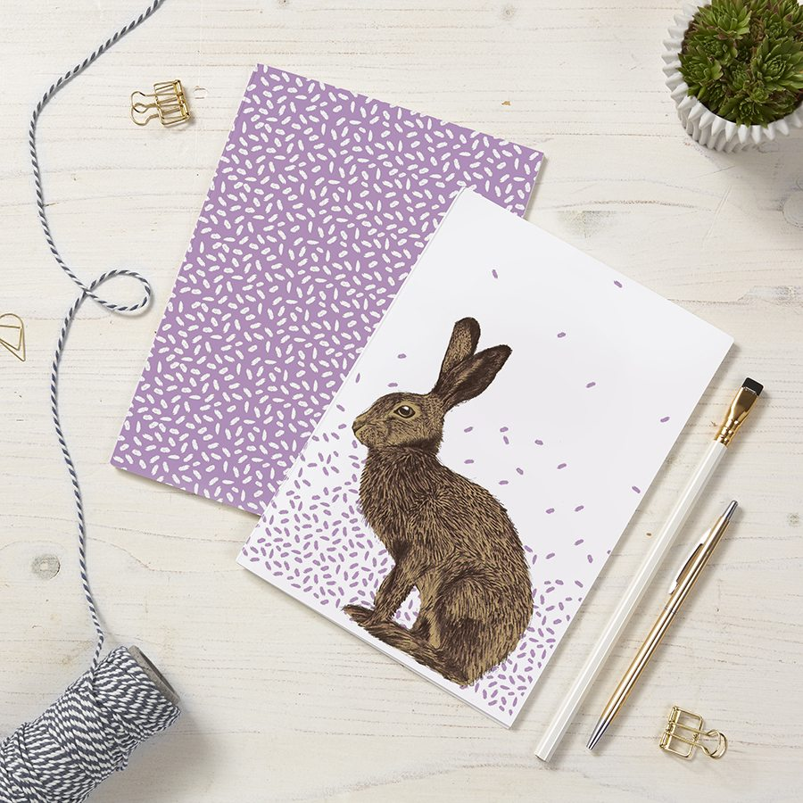 Cherith Harrison Set of 2 A5 Hare Notebooks