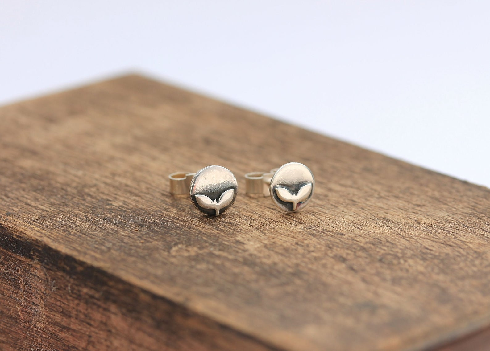 Silver Tiny Rowan Earrings