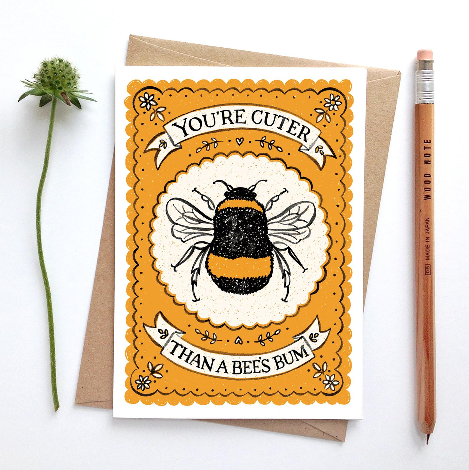 Alexandra Snowdon Bees Bum Card