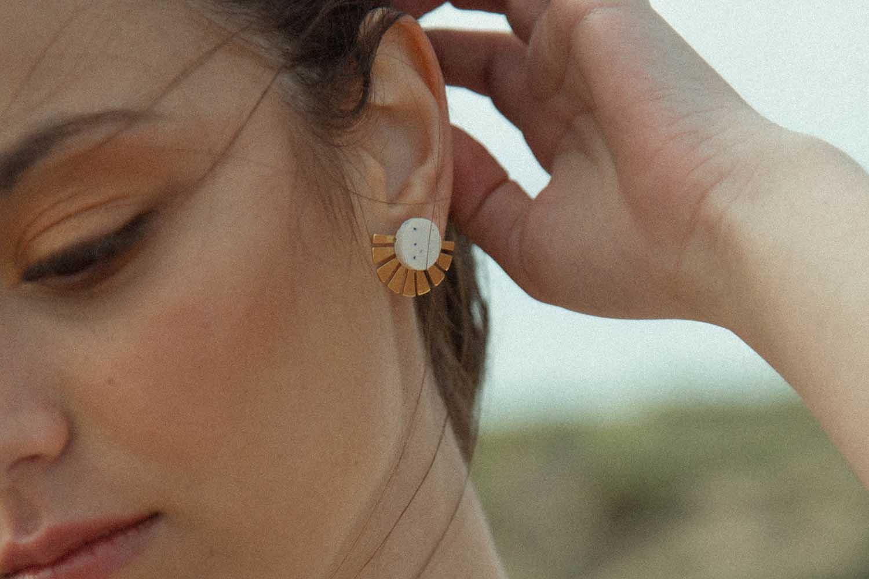 Lia b Hathor White Earrings