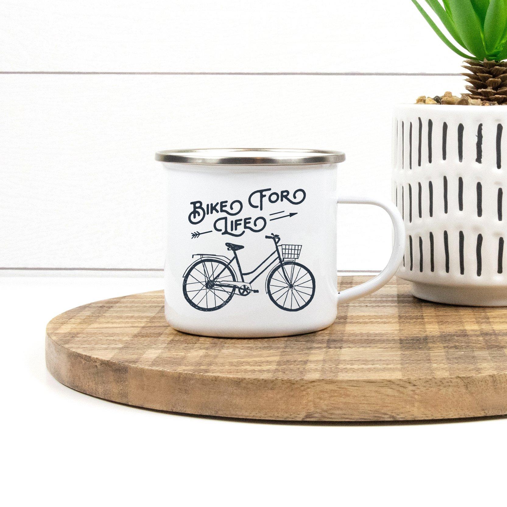 Sovende Bjorn Enamel Mug - Bike for Life