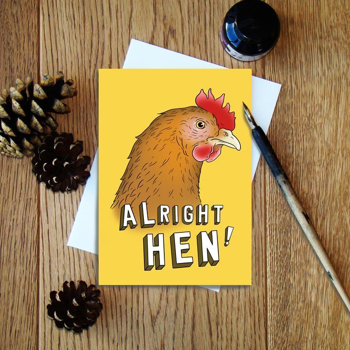 Cheryl Jones Designs Alright Hen Greeting Card