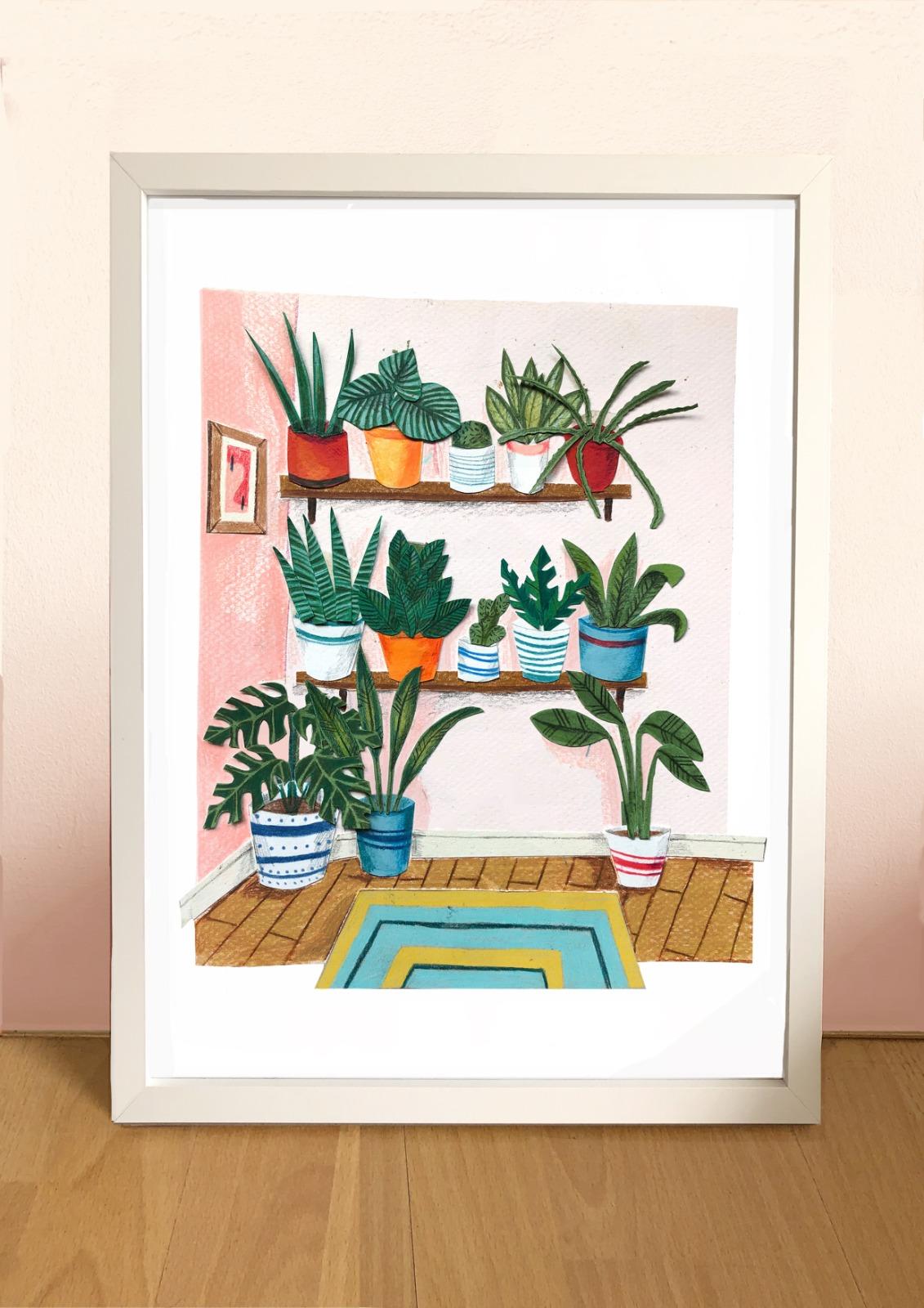 Kaitlin Mechan A4 House Plants Print