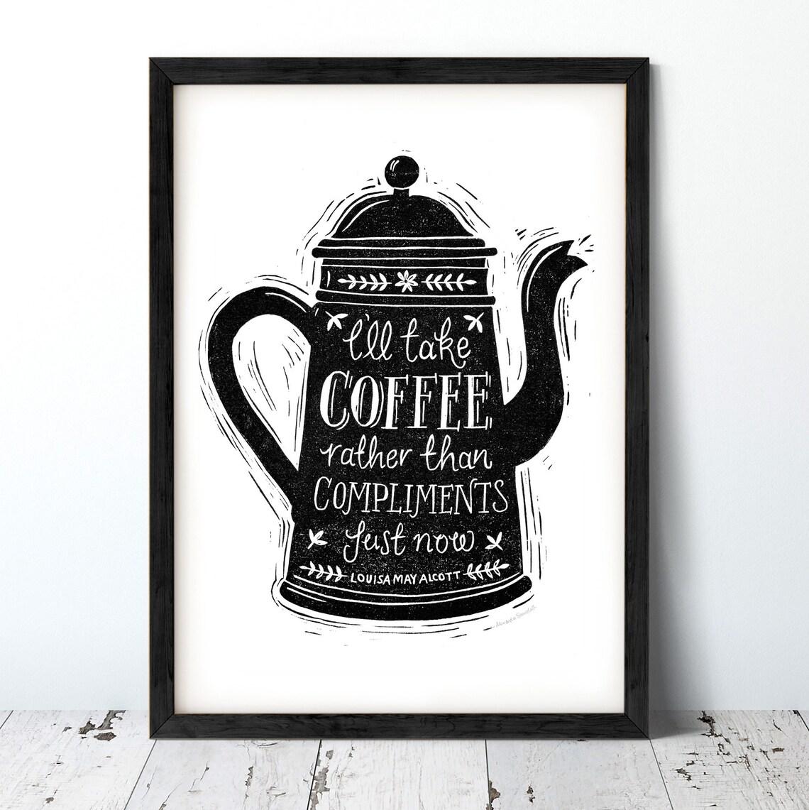 Alexandra Snowdon A4 Coffee Pot Print