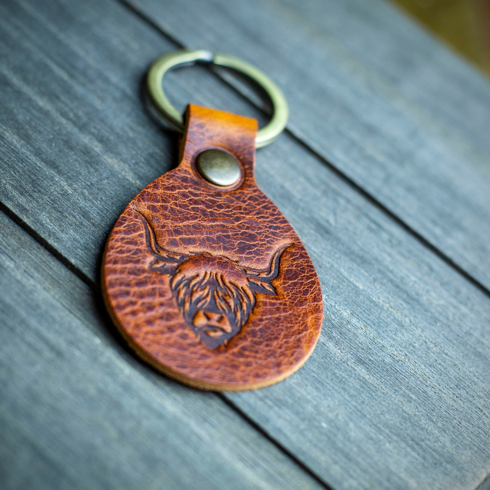 Workshop After Six Highland Cow Key Chain
