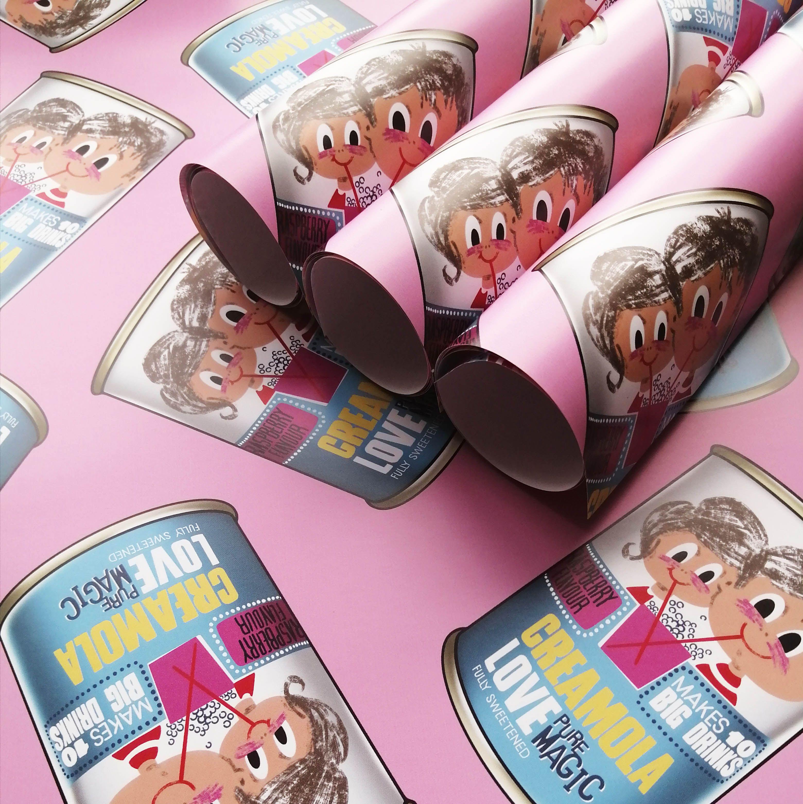 Cheryl Jones Designs Creamola Love Gift Wrapping Paper
