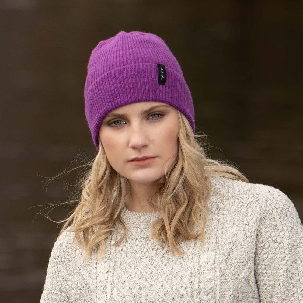 Island Nation Studio Ribbed Winter Hat - Purple