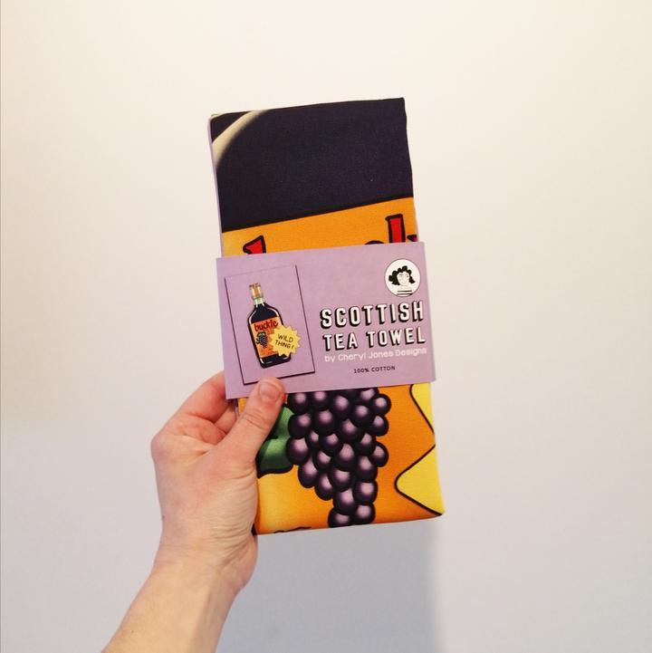 Cheryl Jones Designs Buckie 'Wild Thing' Tea Towel