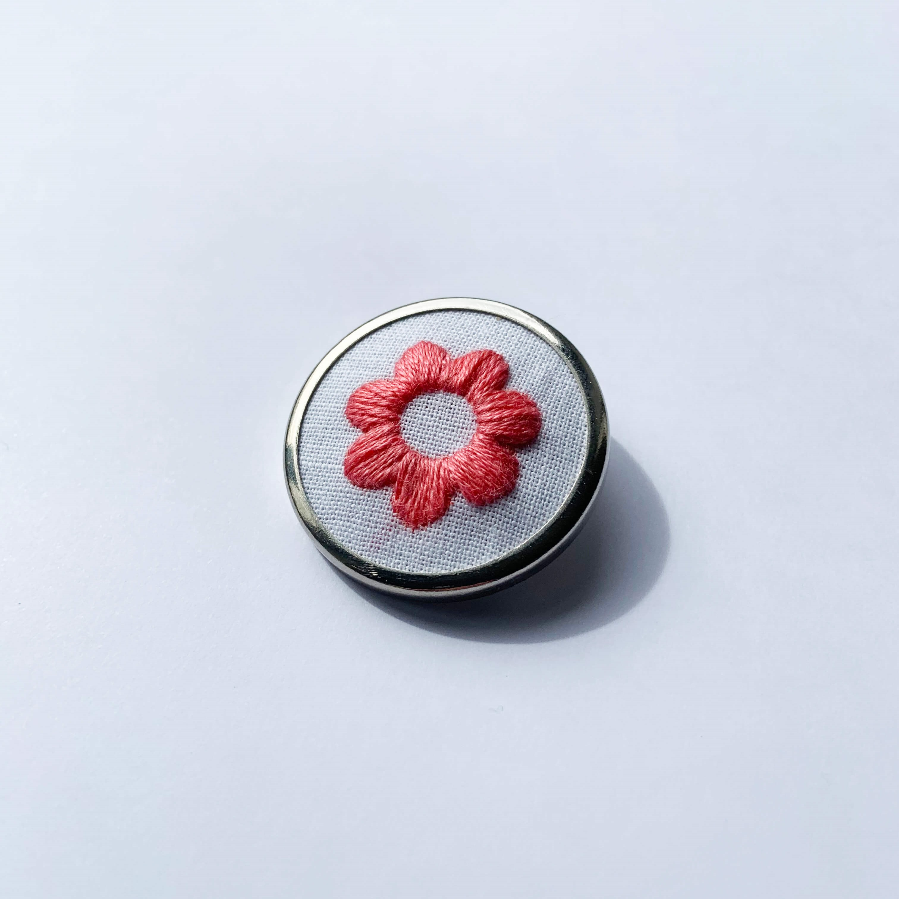 Lauren Smith Embroidery Pin - Flower Child